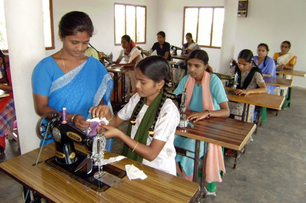 Girls rescued and learning trade at Tailoring School