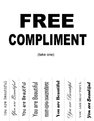 Sincere compliments examples
