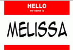 my name is melissa